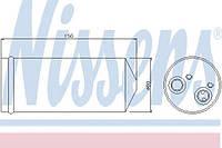 Осушувач кондиціонера (производство Nissens ), код запчасти: 95139