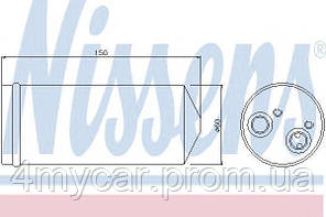 Осушитель daewoo lanos (97-) 1,3-1,6 (производство Nissens ), код запчасти: 95139