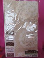 Кружево, пакеты для свадебного торта, каравая (6 шт), размеры ~ 26 см х 15 см х 9 см