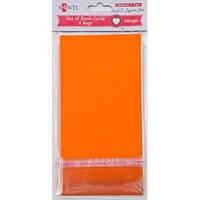 Набор оранжевых заготовок для открыток, 10см*20см, 230г/м2, 5шт. 952294