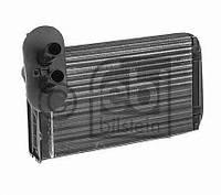 Радиатор отопителя VW Golf 2 / III / 4 / PassatIII / Audi AIII / LUPO / Polo 3 (производство Febi ), код запчасти: 11089