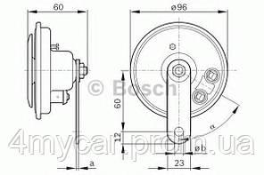 Горн (производство Bosch ), код запчасти: 0 986 320 133