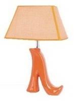 """Интерьерная лампа с реостатом CL-43 керамика """"Туфель"""" цвет оранжевый 44см."""