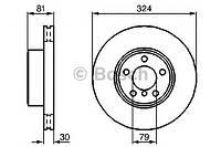Гальмівний диск bmw e65 730d, 730i, 735i 2002- f (производство Bosch ), код запчасти: 0986479002