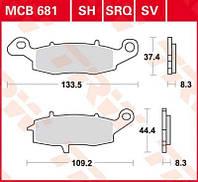 Колодок комплект Suzuki/Kawasaki TRW / Lucas MCB681SV