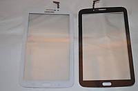 Оригинальный тачскрин сенсор (сенсорное стекло) Samsung Galaxy Tab 3 T211 P3200 P3210 (белый цвет, самоклейка)