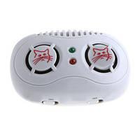 Ультразвуковой мощный отпугиватель мышей с двойным динамиком для жилых, офисных помещений и складов площадью д