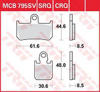 Колодки комплект тормозные Yamaha TRW / Lucas MCB795SV