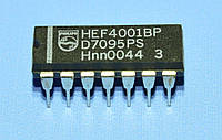 Микросхема 4001 /HEF4001BP  dip14   Philips