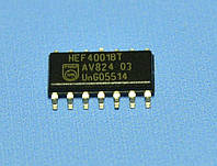 Микросхема 4001 /HEF4001BT(smd)  so14   Philips