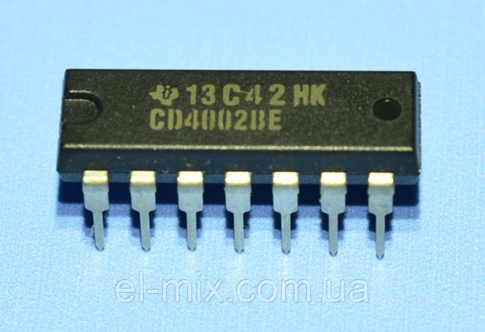 Микросхема 4002 /CD4002BE  dip14  TI