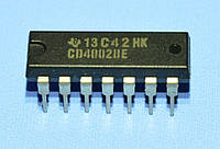 Микросхема 4002 /CD4002BE  dip14  TI