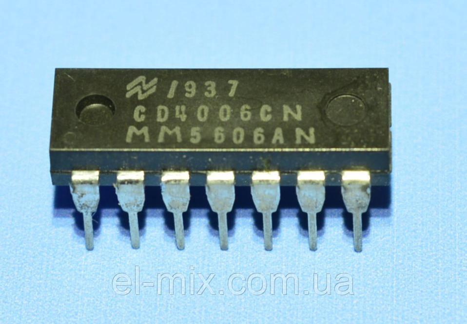 Микросхема 4006 /CD4006CN  dip14