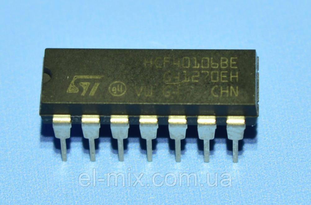 Микросхема 40106 /HCF40106BE  dip14  STM