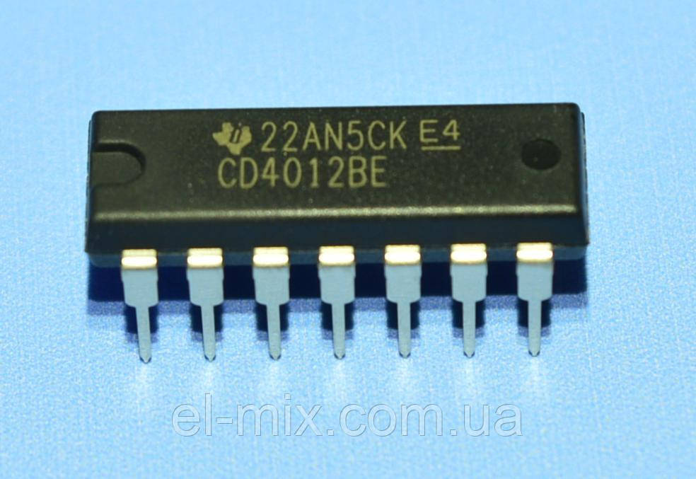 Микросхема 4012 /СD4012BE  dip14  TI