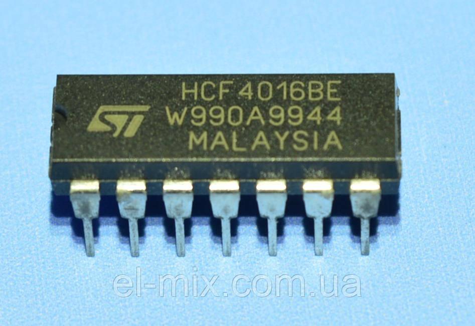 Микросхема 4016 /HCF4016BE  dip14  STM