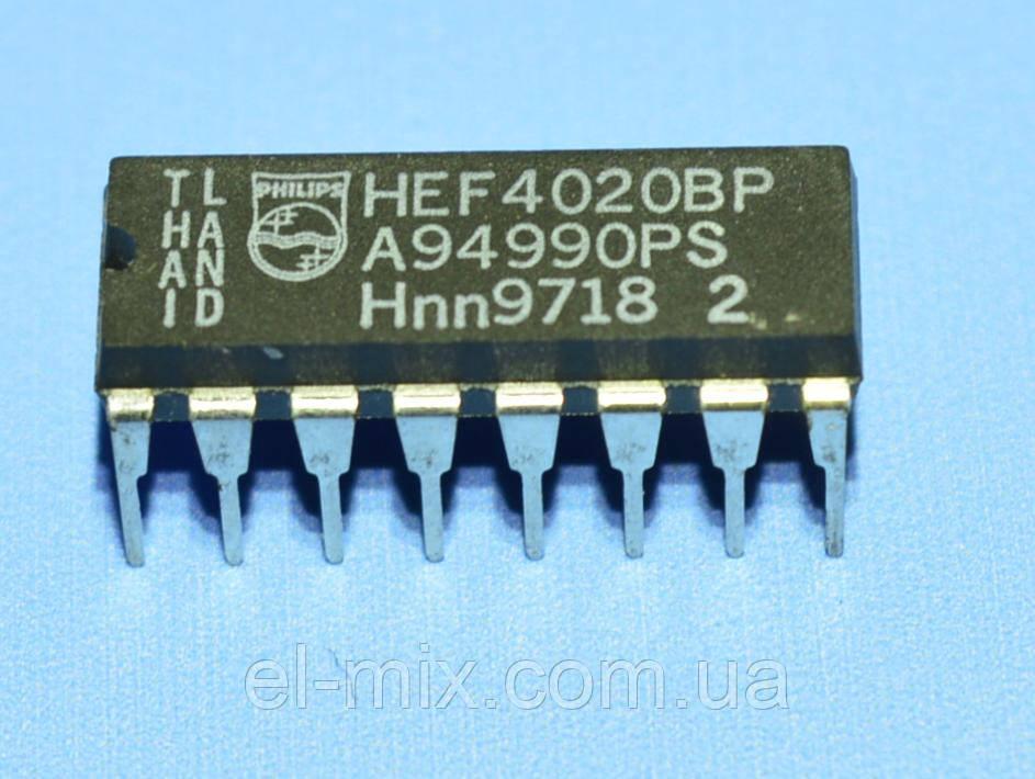 Микросхема 4020 /HEF4020BP  dip16   Philips