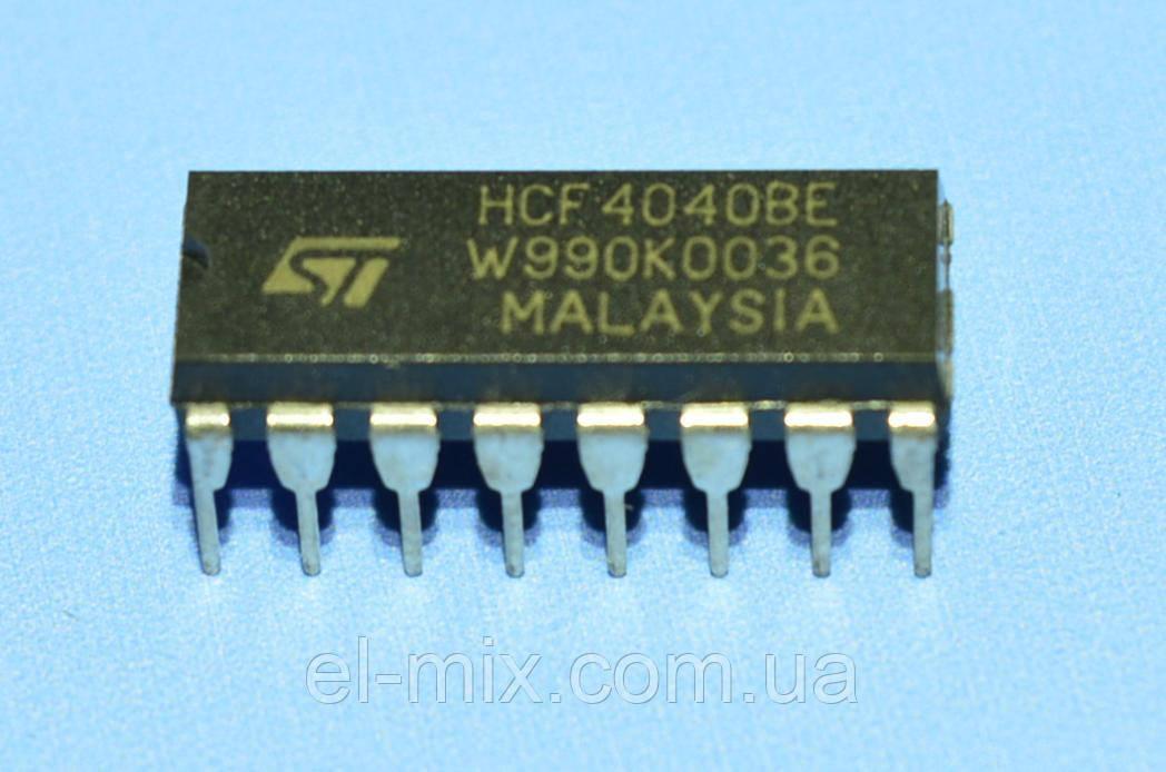 Микросхема 4040 /HCF4040BE  dip16  STM