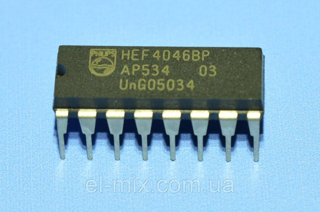 Микросхема 4046 /HEF4046BP  dip16   Philips