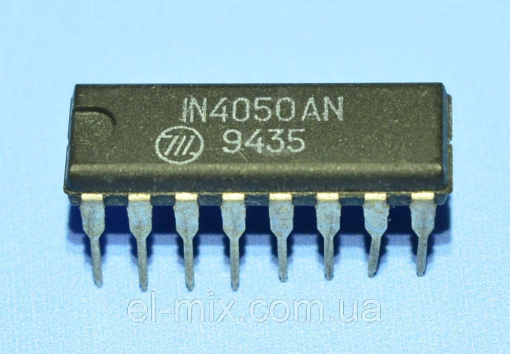 Микросхема 4050 /IN4050AN  dip16  Интеграл