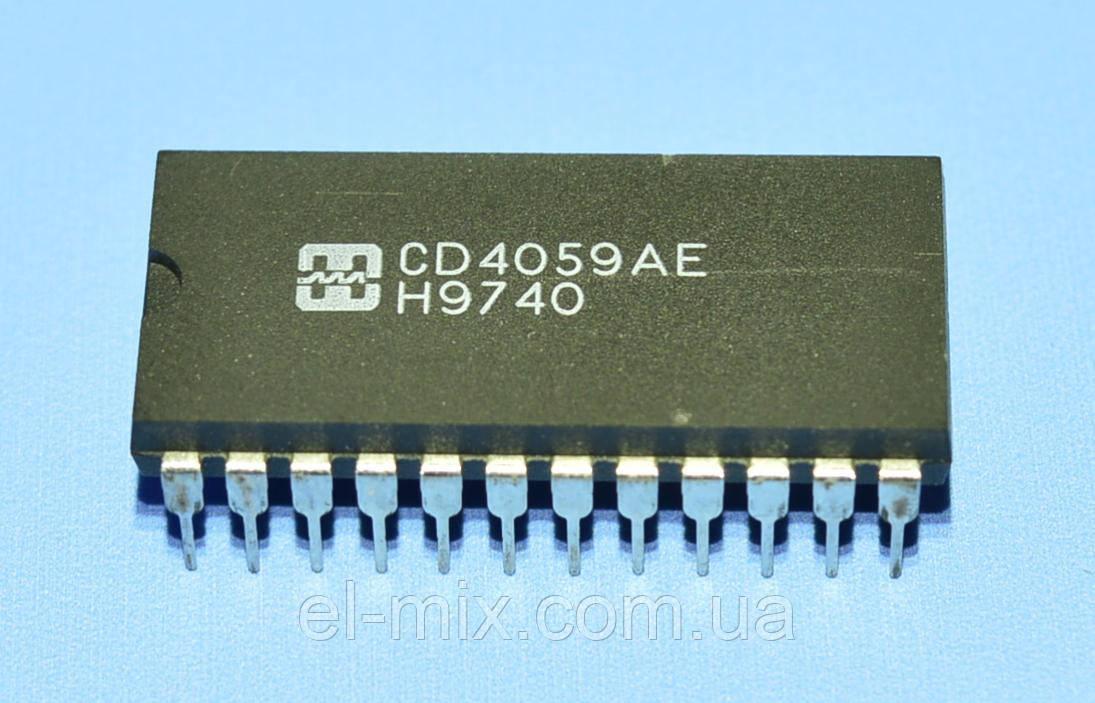 Микросхема 4059 /СD4059AE  dip24