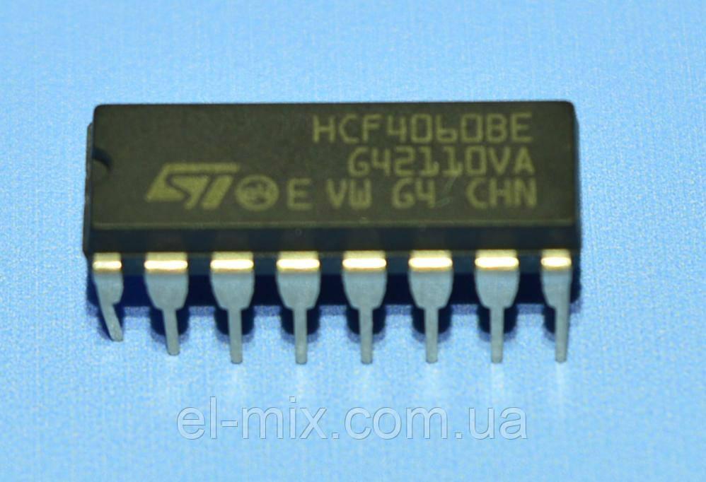 Микросхема 4060 /HCF4060BE  dip16   STM