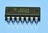 Микросхема 4070 /СD4070BE  dip14  TI