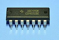 Микросхема 4071 /СD4071BE  dip14  TI