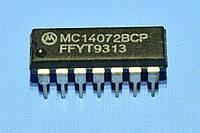 Микросхема 4072 /MC14072BPC  dip14