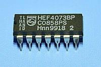 Микросхема 4073 /HEF4073BP  dip14   Philips