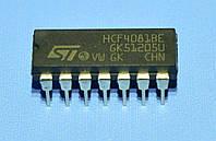 Микросхема 4081 /HCF4081BE  dip14   STM