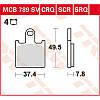 Kawasaki колодки тормозные TRW / Lucas MCB789SV