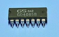 Микросхема 4085 /СD4085B  dip14