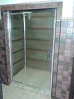 Стеклянные душевые двери, стеклянные перегородки в душ, нестандартные душевые кабины, фото 1