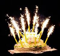 Фейерверк для торта Холодный фонтан Набор 4шт 10см