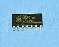 Микросхема 74HC00D(smd)  so14  Philips