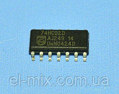 Микросхема 74HC02D(smd)  so14  Philips