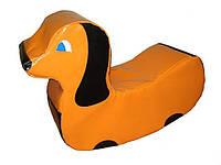 Детская качеля - качалка Собачка (мягкий модуль)