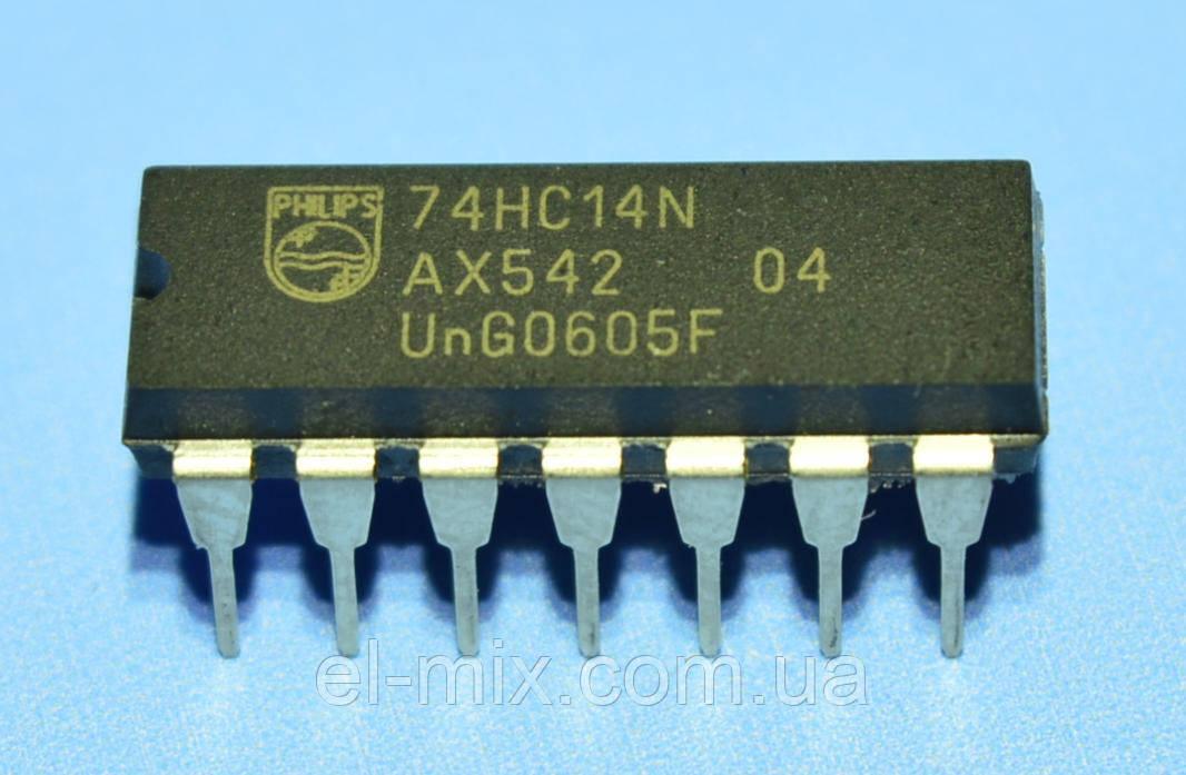 Мікросхема 74HC14N dip14 Philips