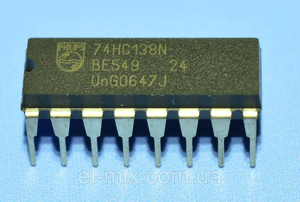 Микросхема 74HC138N  dip16  Philips