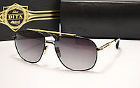 Женские солнцезащитные очки Dita Victoire цвет черный с золотом