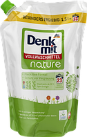 Жидкий порошок Эко  для стирки белого и цветного белья  DenkMit Vollwaschmittel nature 1500 мл