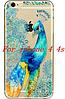 Прозрачный силиконовый чехол с палином для iphone 4/4S
