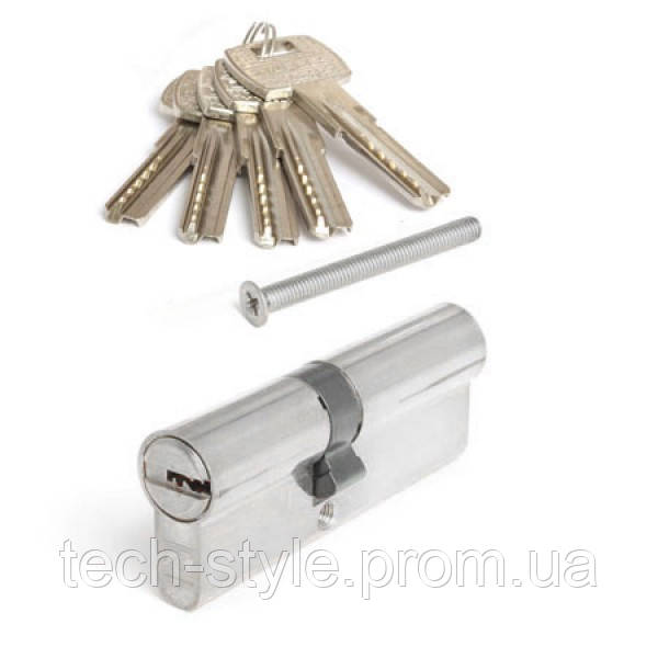 Цилиндр 40х40 мм, 5 лазерных ключей c стальной ручкой