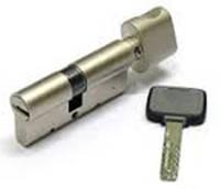 Цилиндр с воротком 40х40 мм, 5 лазерных ключей c пластиковой ручкой