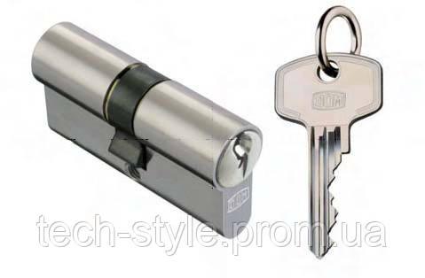 Цилиндр с воротком 45х45 мм, 5 лазерных ключей c стальной ручкой