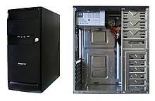 Корпус для ПК FrimeCom LB057 BL Black/Black 400W