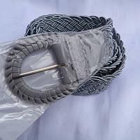 Ремень женский ПЛЕТЕНКА СЕРЫЙ 40мм купить оптом дешево в Одессе 7км модные качественные