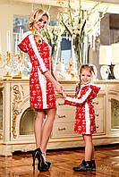 Стильное детское платье Шанель с контрастным принтом, свободного кроя, с капюшоном