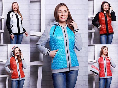 Куртка женская демисезонная с капюшоном весна -осень - KRISTI Разные цвета